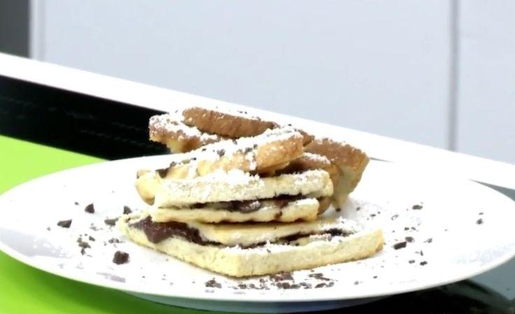 Γαλλικά τοστ με σοκολάτα και μπανάνα