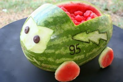 Lightning McQueen Watermelon carving