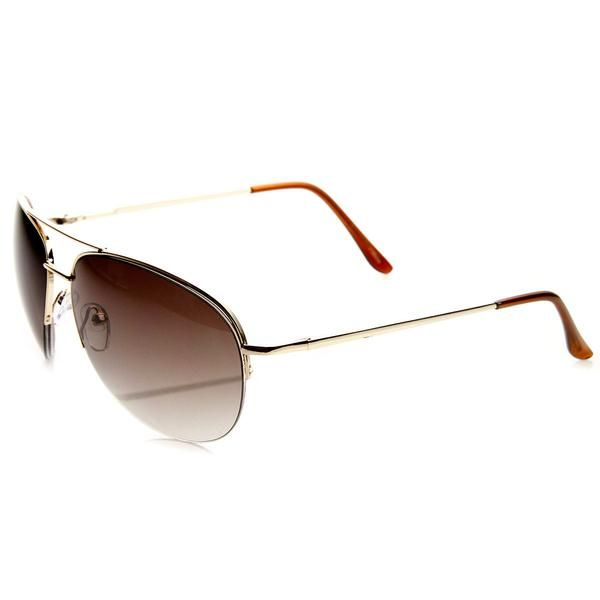 Teardrop metal aviator sunglasses that features a semi-rimless half frame and spring-loaded hinges. A very classic frame that offers a very classic and stylish