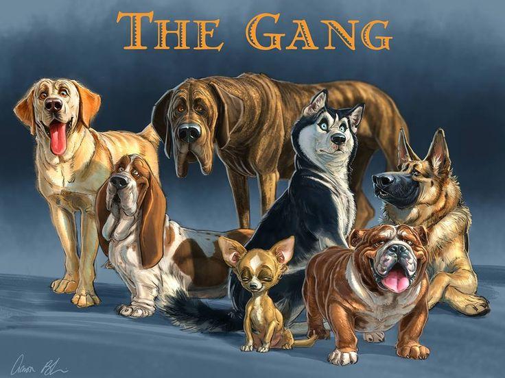 The Gang by Aaron Blaise // https://creatureartteacher.com/ - http://aaronblaiseart.blogspot.com/