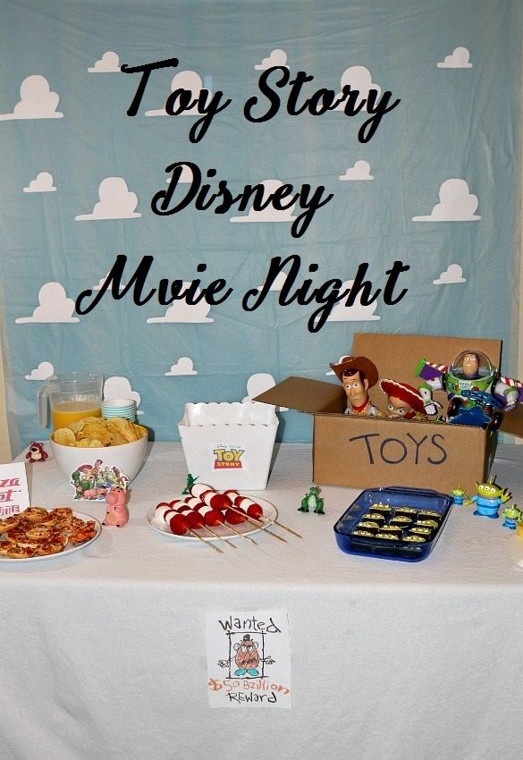 Toy Story Disney Movie Night. Toy story weekend, full movie night details for a magical night for the whole family.