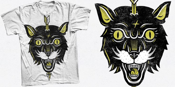 """Black Tiger"" t-shirt design by Valér Hympán"