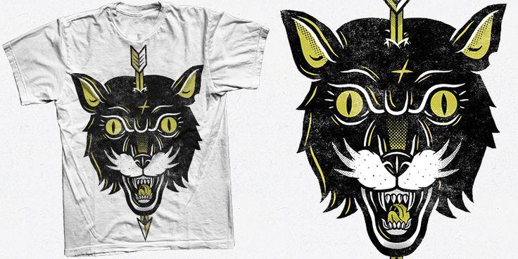"""""""Black Tiger"""" t-shirt design by Valér Hympán"""