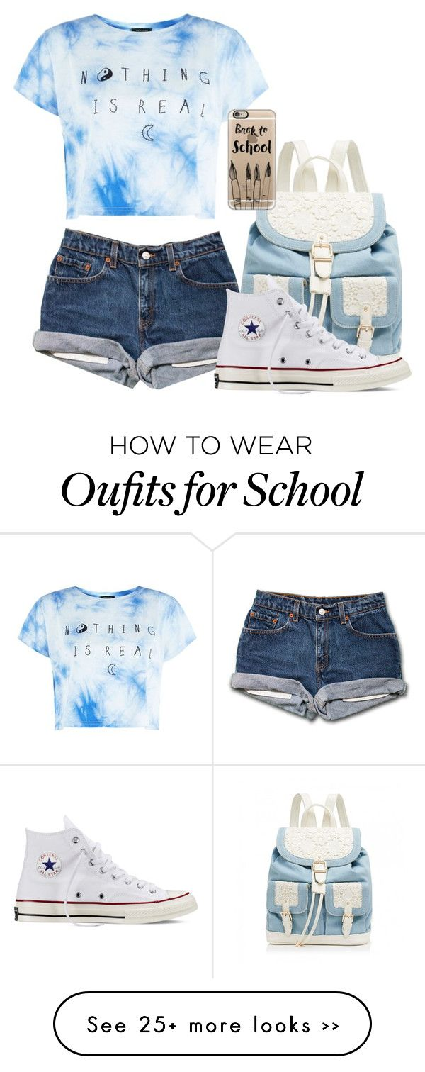 """""""Back to school: read D!"""" by lucysenior on Polyvore featuring Forever New, Converse and Casetify"""