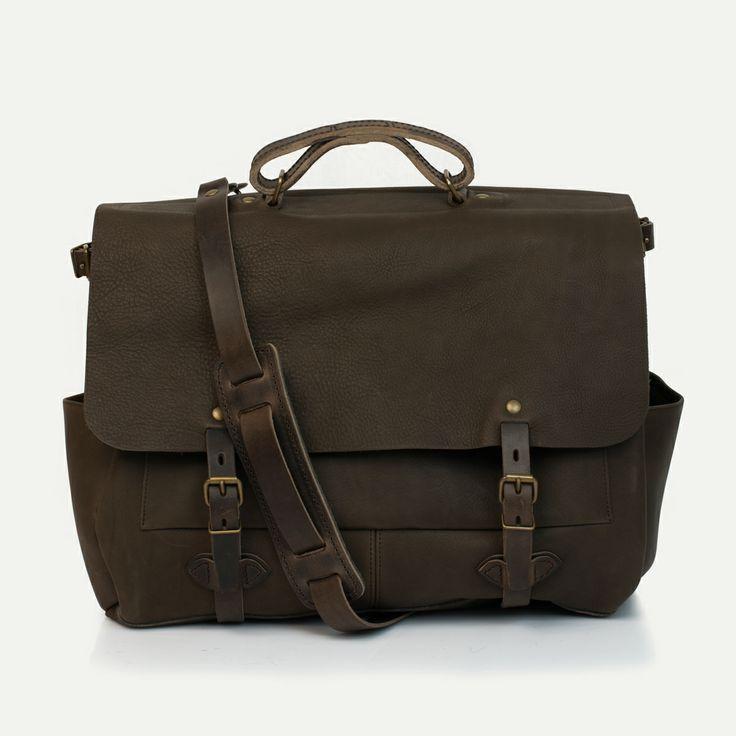 Executive Postier 48h Irving, Kenya - Irving postman bag, Kenya - Bleu de Chauffe. #businessbag #manbag #madeinfrance