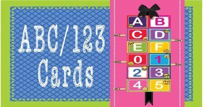EMOJI ABC/123 Number and Letter Cards Shelf Labels