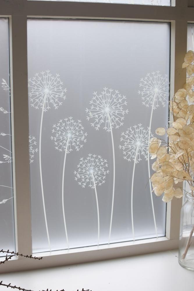 Allium Window Film                      – Hannah Nunn         #glass #decor #patterned #windowfilm #frosted