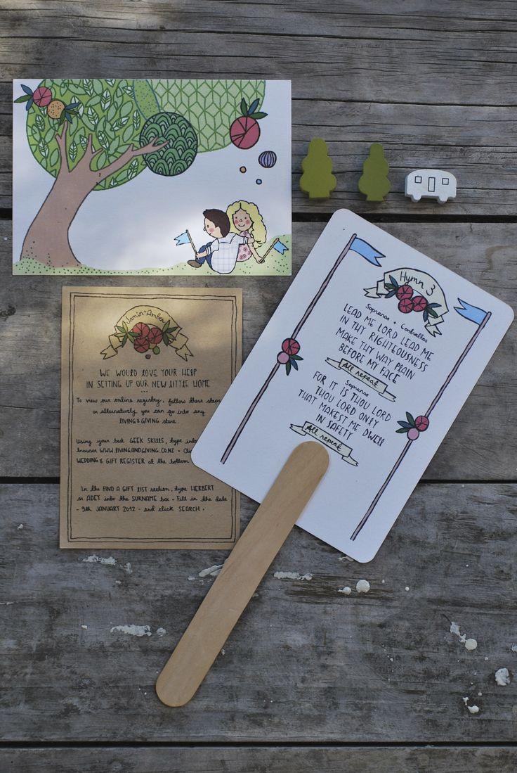 Custom wedding stationery - Amber + Jamin