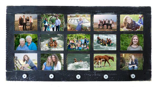 5 X 7 Barn Window 15 Photo Multi Picture Frame W/ Knobs