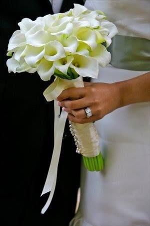 Bouquet de la mariée simple et élégant