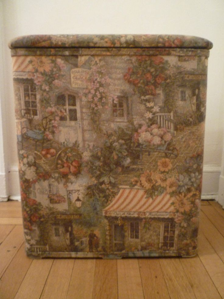 French Provincial Tapestry Headboard, Bed-Skirt, Hamper