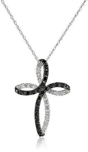 #carbonado 10k White Gold Cross Black and White Diamond Pendant Necklace (1/5 cttw, I-J Color, I2-I3 Clarity), 18'' by Amazon Curated Collection - See more at: http://blackdiamondgemstone.com/jewelry/necklaces/pendants/10k-white-gold-cross-black-and-white-diamond-pendant-necklace-15-cttw-ij-color-i2i3-clarity-183939-com/#!prettyPhoto: #carbonado 10k White Gold Cross Black and White Diamond Pendant Necklace (1/5 cttw, I-J Color, I2-I3 Clarity), 18'' by Amazon Curated Collection - See more at…