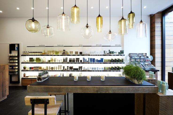 Blown Glass Pendants    Aveda Store featuring Niche Modern Pendant Lights
