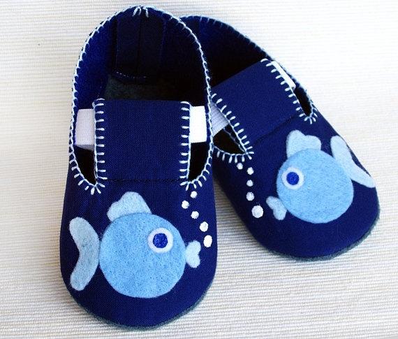 Fish Baby Booties