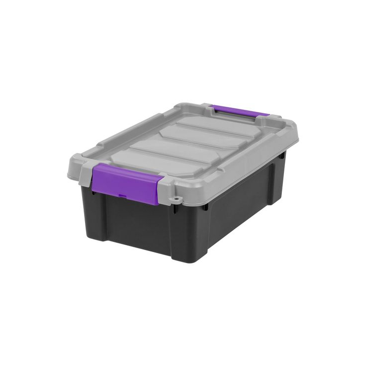 Utility storage Bin Plastic 6pc Purple - Iris