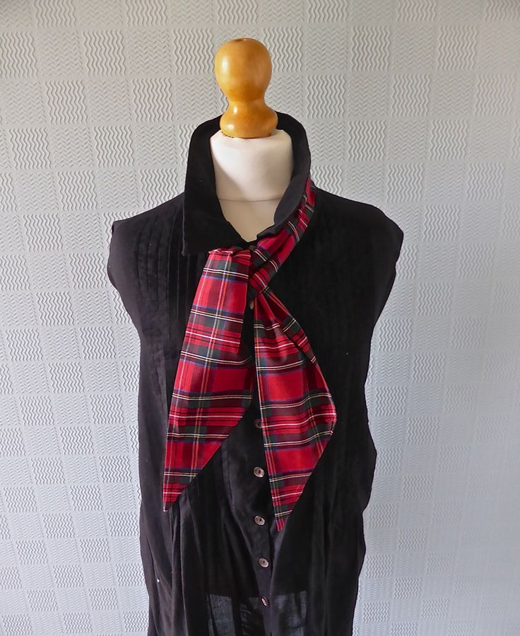 A personal favourite from my Etsy shop https://www.etsy.com/listing/229409865/red-tartan-plaid-scarf-tie-wrist-scarf