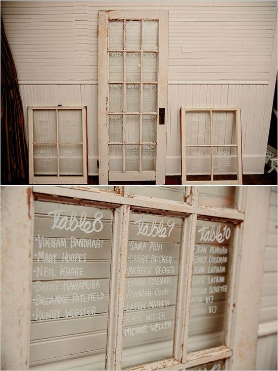 table seating chart windows @weddingchicks