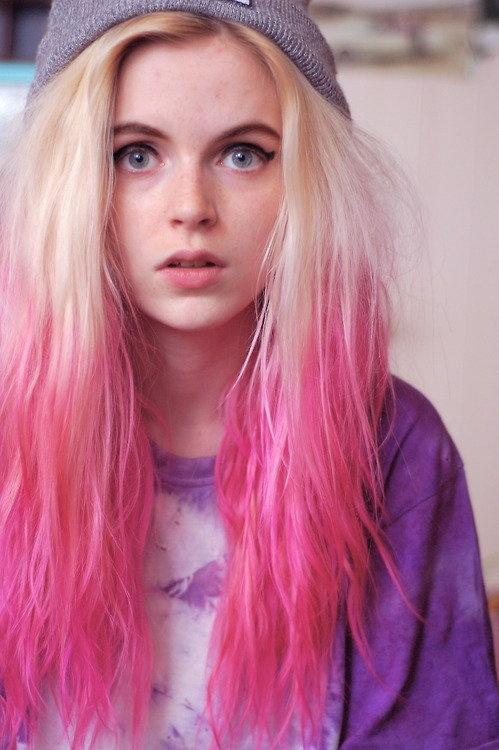 Dip Dyed Hair, Hair extensions, Pink Hair, Dip Dye