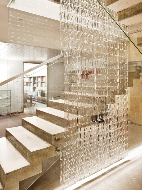 Glass Ceiling lamp TILE by @Fabbian | #Design Studio di architettura Roberto Pamio - Pamio Design #staircase #light