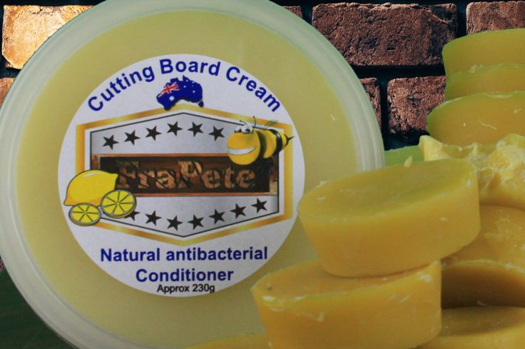 Wood Cutting board chopping board cream oil conditioner 230grams by FraPete on Etsy