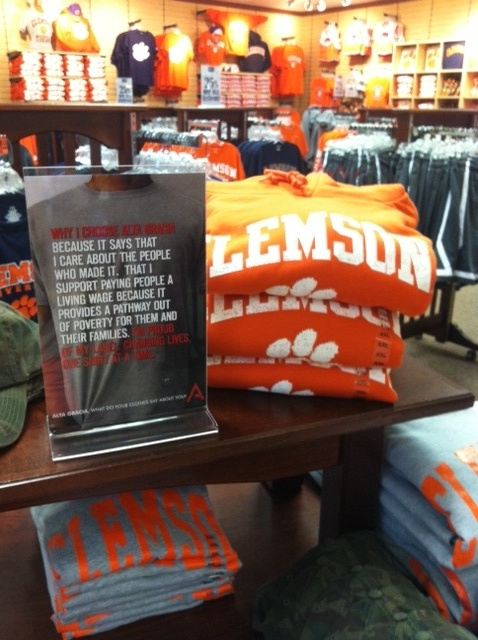 Alta Gracia @ Clemson University Bookstore!