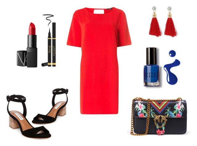 """""""Red vibrance"""" by katyvalentine on Polyvore featuring Steve Madden, Dorothy Perkins, Bobbi Brown Cosmetics, NARS Cosmetics, Yves Saint Laurent and Marc Jacobs"""