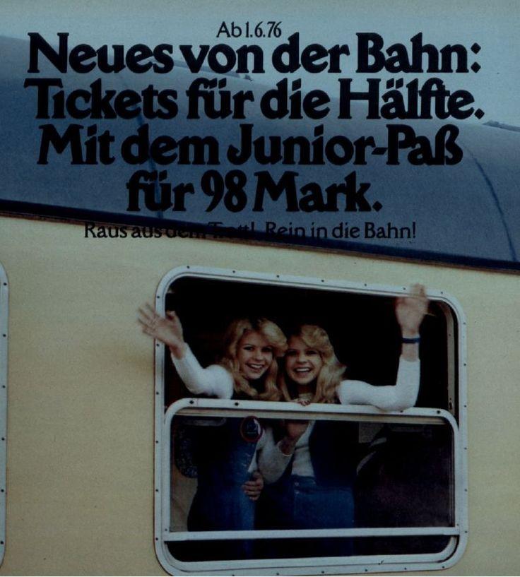 werbung aus den 70ern f r die deutsche bahn m dchen mit. Black Bedroom Furniture Sets. Home Design Ideas