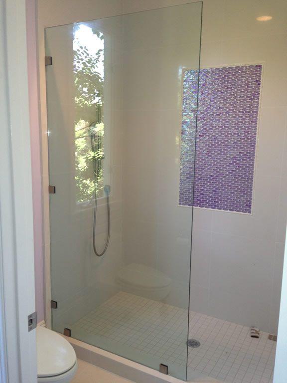 Half inch glass shower screen installation in Rancho Santa ...