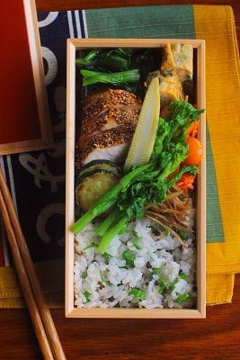 鶏の利休焼き弁当   日本の片隅で作る、とある日のお弁当