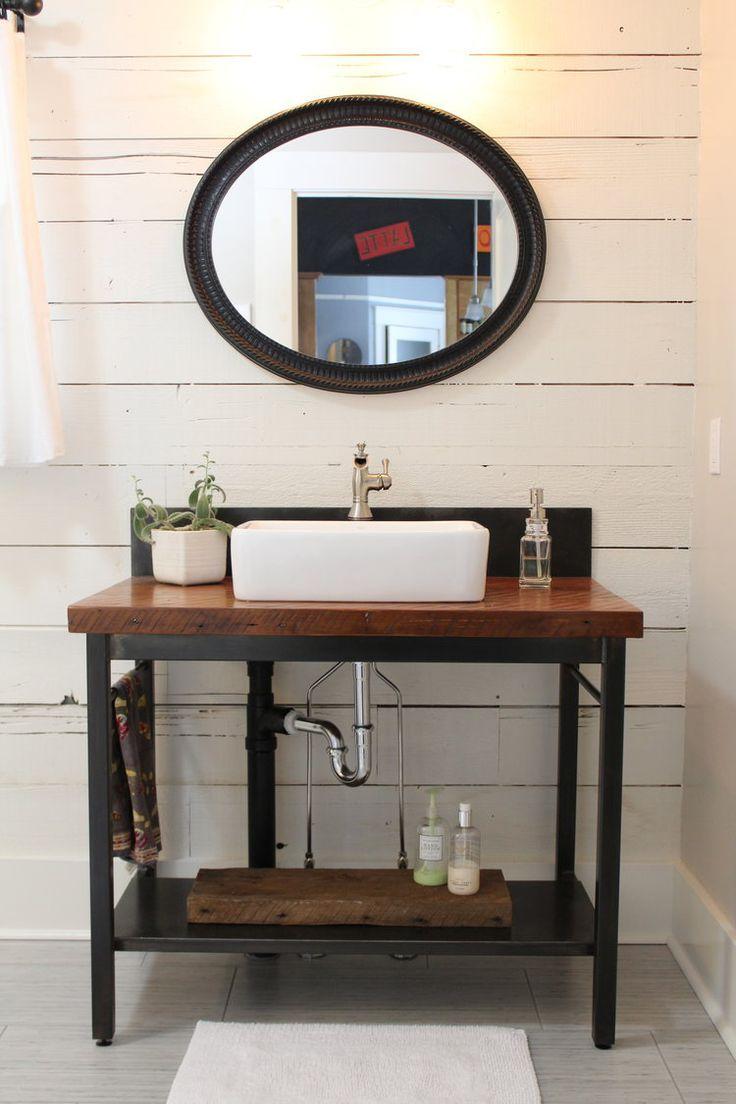 Modern Farmhouse Vanity + Backsplash Bathroom design