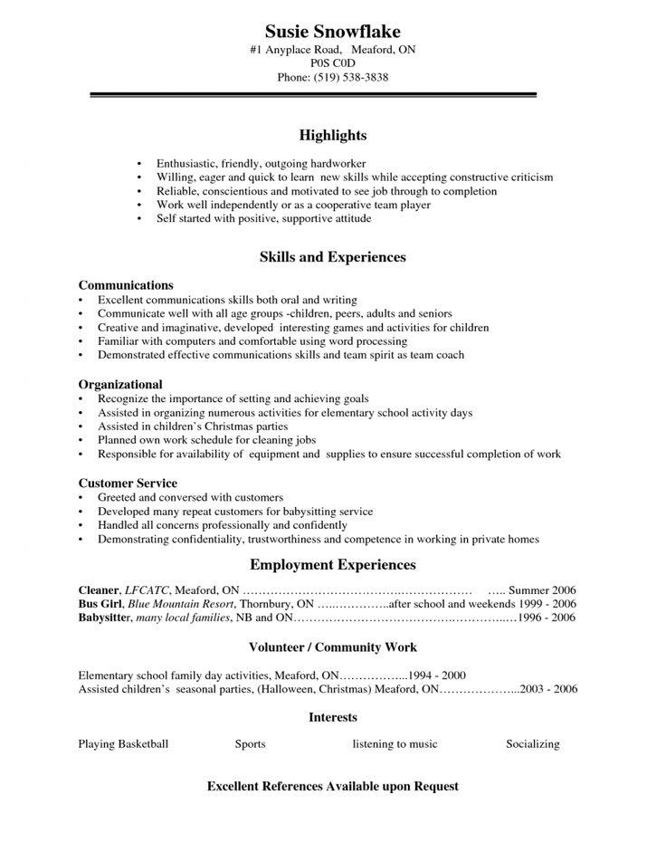 Best 20+ High school resume ideas on Pinterest | College teaching ...