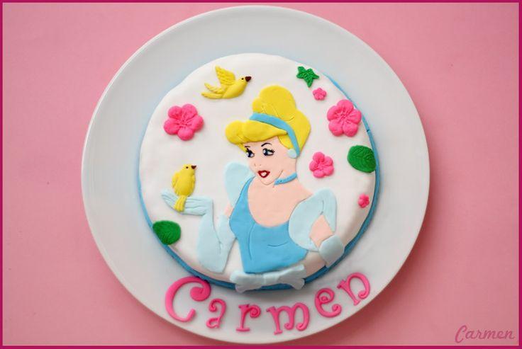 Tarta Cenicienta - Cinderella cake- No quieres caldo? Pues toma 2 tazas