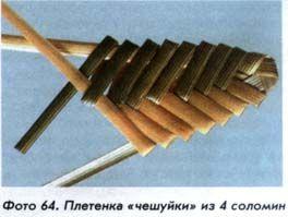 Плетенка из соломки «чешуйки»