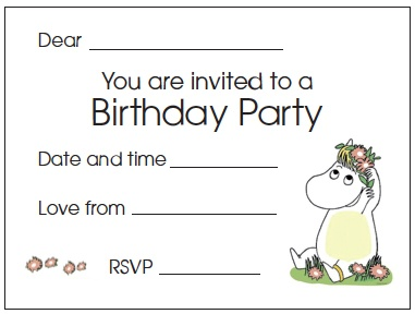 Free moomins party invite from yetimagic.co.uk