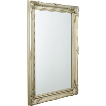 scroll mirror silver 90 x 65cm at homebase be inspired and make your