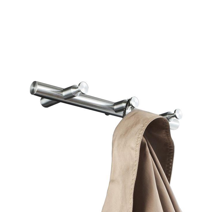 Garderobenleisten & Hakenleisten mit Rundstab - Edelstahl massiv, Haken aus einem Stück gedreht, handgeschliffen. Montage rückseitig verschraubt ebenso möglich.