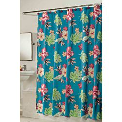 Fabric Shower Curtains Shower Curtains And Hibiscus On Pinterest