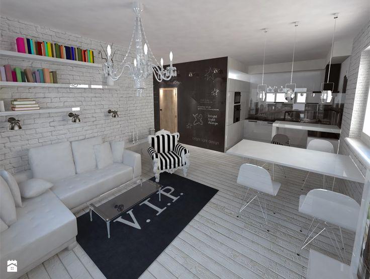 Salon styl Eklektyczny - zdjęcie od bright light design ❘ architektura wnętrz - Salon - Styl Eklektyczny - bright light design ❘ architektura wnętrz