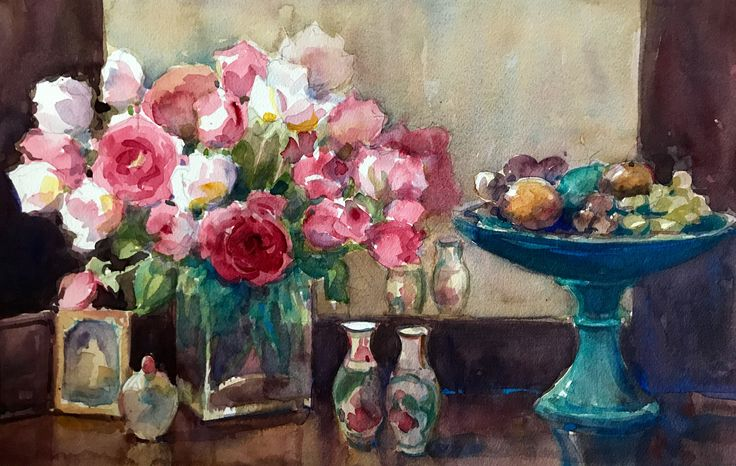 Stilllife with roses by jennymdiamond designs