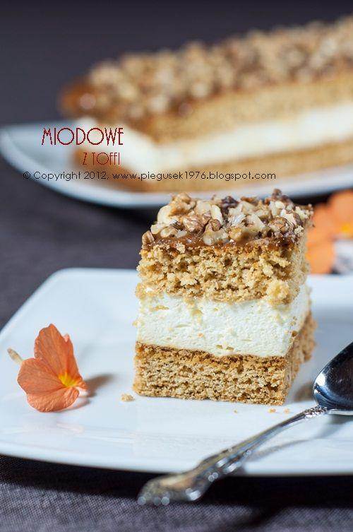 Miodowe z toffi #ciasto #cake  #sweet