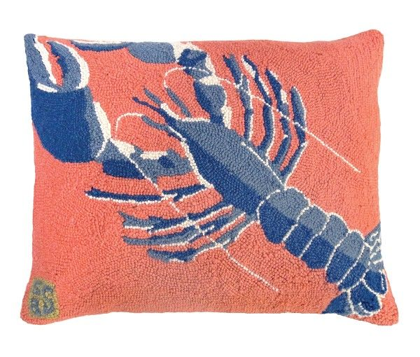 "NCU-838 Rock Lobster 16""x20"" Hooked Pillow"