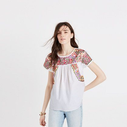 Madewell+-+Embroidered+Springtime+Top+in+Eyelet+White