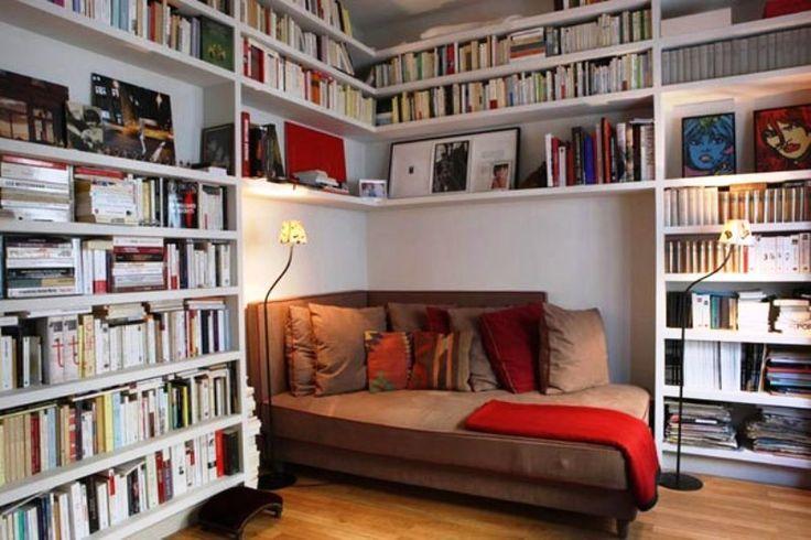 home library design ideas Home Library Ideas Design With Unique Bookcase
