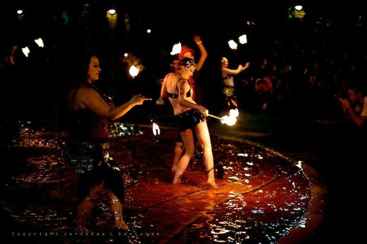 Love this sexy trio and their fire fountain show. Ophelia,  Lauren & DangerBoy.