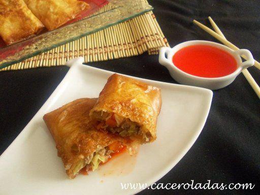 Recetas comida China Rollitos de primavera