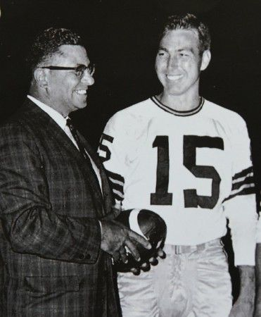 Green Bay Packers Coach Vince Lombardi and Quarterback Bart Starr