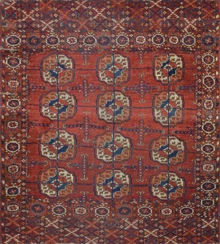 Carpet Culture - TURKMAN TEKKE RUG - 4' X 5' - CC1511