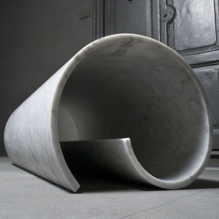Girella marble bench | Ron Gilad for Salvatori