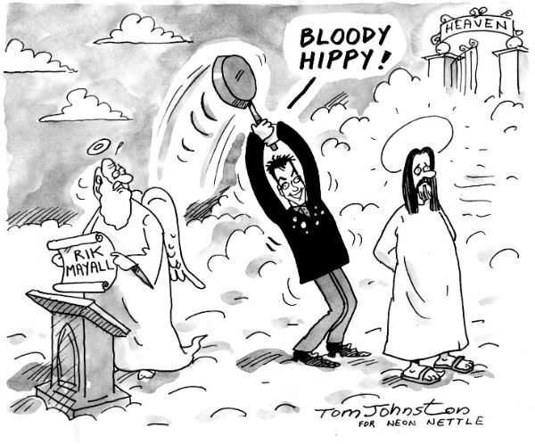'Bloody Hippy' Cartoonist Tom Johnston's tribute to Rik Mayall  - Neon Nettle's Tom Johnston commemorates the great comic