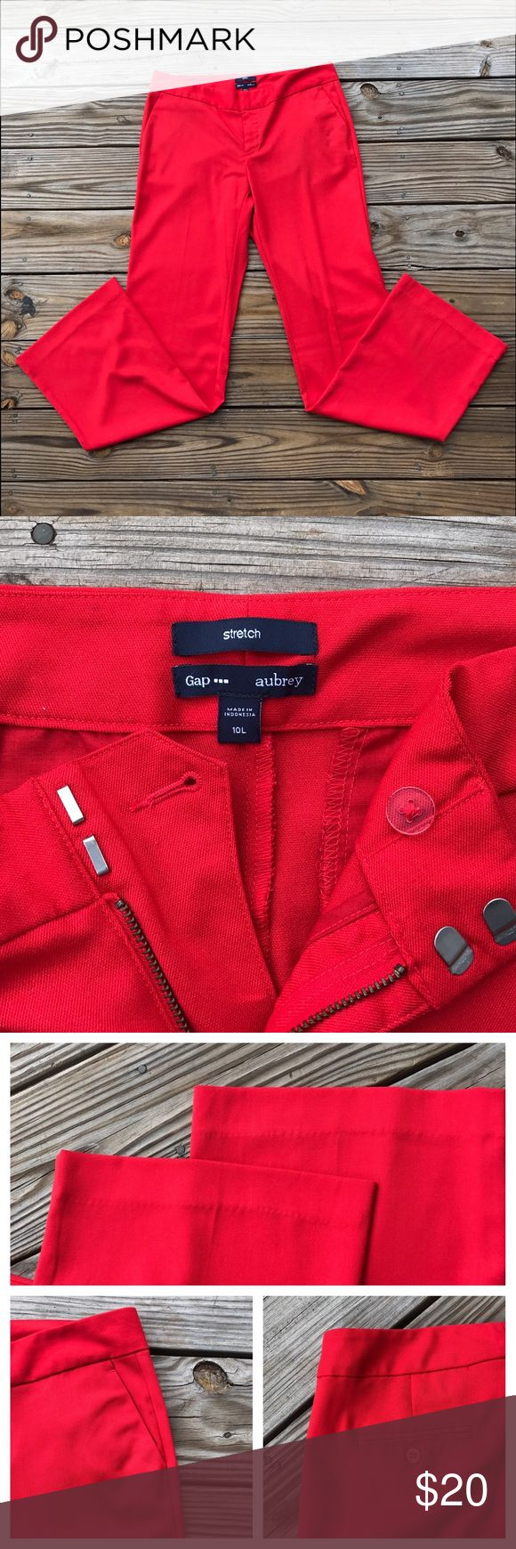 Gap Trouser Pants Bright orangish-red trouser work pant. NWOT only washed and never worn out. Please note there are 10 Tall. Great for wearing with heels. GAP Pants Trousers
